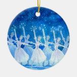 Ornamento del ballet - danza de los copos de nieve adorno para reyes