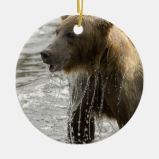 Ornamento del baño del oso adorno redondo de cerámica
