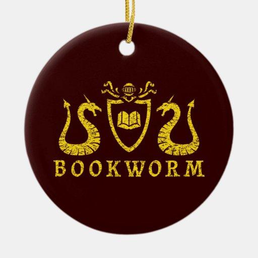 Ornamento del blasón del ratón de biblioteca ornamento para reyes magos