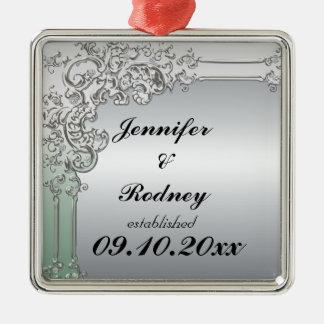 Ornamento del boda de novia y del novio ornato