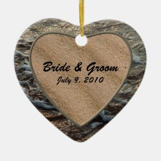 Ornamento del boda del recuerdo de la serenidad de