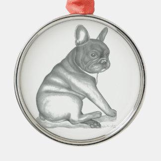 Ornamento del bosquejo del dogo francés