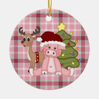 Ornamento del cerdo del día de fiesta del navidad