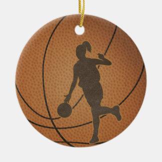 Ornamento del chica del baloncesto