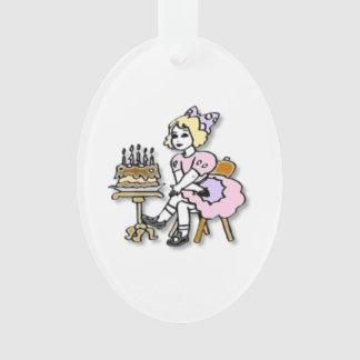 Ornamento del chica del cumpleaños