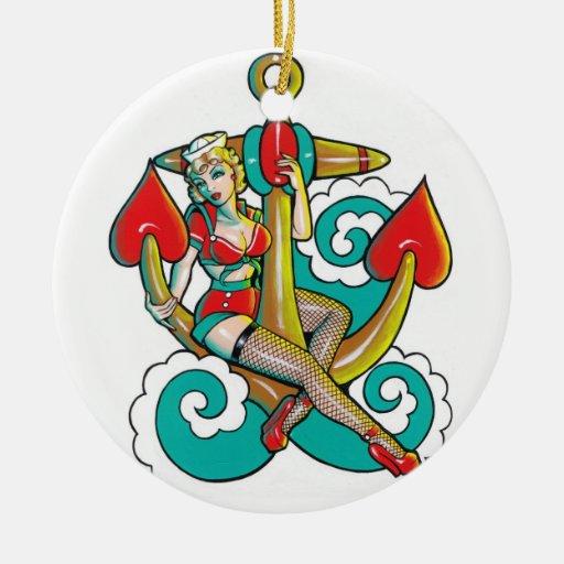 Ornamento del chica del marinero ornamentos de reyes magos
