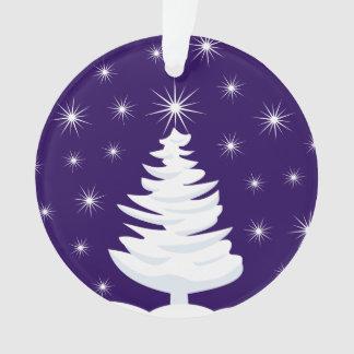 Ornamento del círculo del árbol de navidad y de la