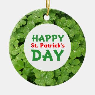 Ornamento del círculo del día de St Patrick feliz