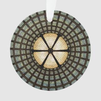 Ornamento del círculo del vitral