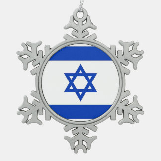 Ornamento del copo de nieve con la bandera de Isra Adornos