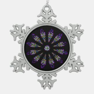 Ornamento del copo de nieve del estaño de la adorno