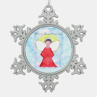 """Ornamento del copo de nieve del """"pequeño de Brown Adorno De Peltre Tipo Copo De Nieve"""