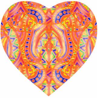 Ornamento del corazón de Bebopo Esculturas Fotograficas