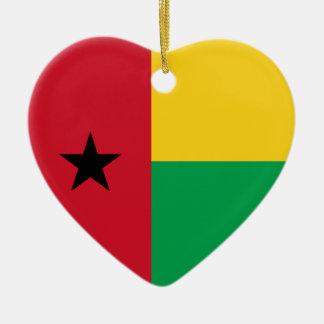 Ornamento del corazón de la bandera de adorno navideño de cerámica en forma de corazón