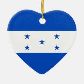 Ornamento del corazón de la bandera de Honduras Adorno Navideño De Cerámica En Forma De Corazón