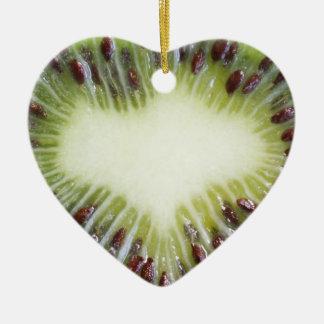 Ornamento del corazón de la fruta de kiwi ornamente de reyes
