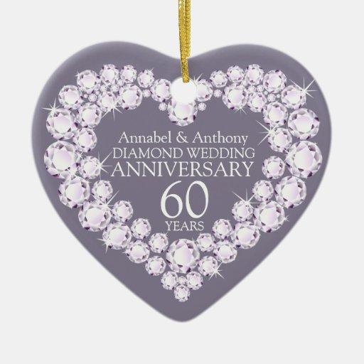 Ornamento del corazón del aniversario de boda de ornamento para arbol de navidad