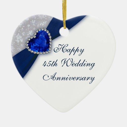 Ornamento del corazón del aniversario de boda del  adorno para reyes