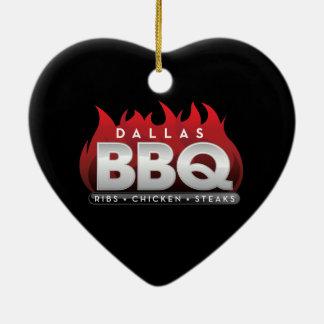 Ornamento del corazón del Bbq de Dallas