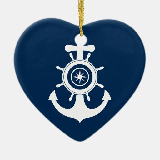Ornamento del corazón del marinero del ancla ornamente de reyes