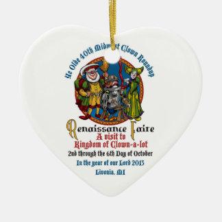 Ornamento del corazón del MCA 40.o Ornaments Para Arbol De Navidad