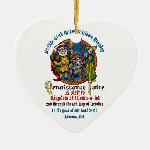 Ornamento del corazón del MCA 40.o Ornamento De Navidad