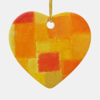 Ornamento del corazón del verano de 4 estaciones adorno de cerámica en forma de corazón