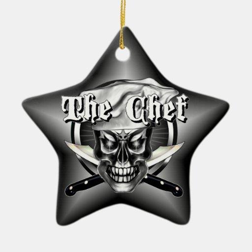 Ornamento del cráneo del cocinero ornamento de reyes magos