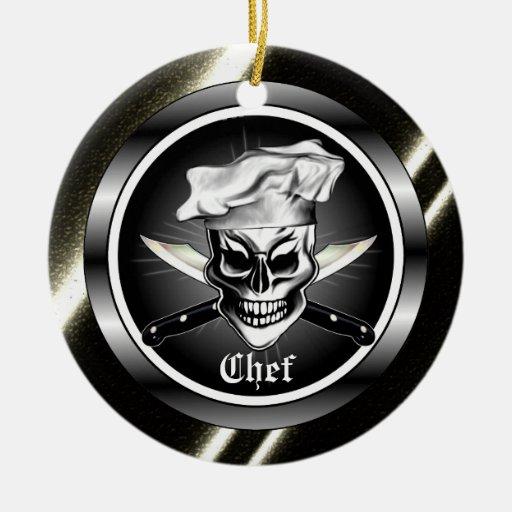 Ornamento del cráneo del cocinero adorno de reyes