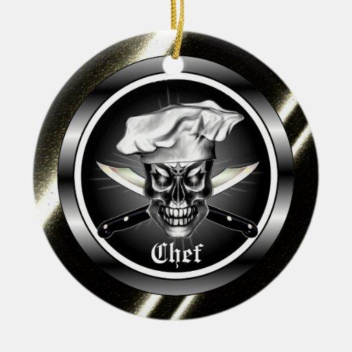Ornamento del cráneo del cocinero adorno