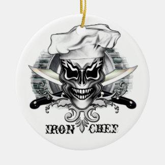 Ornamento del cráneo del cocinero: Cocinero del Adorno De Navidad