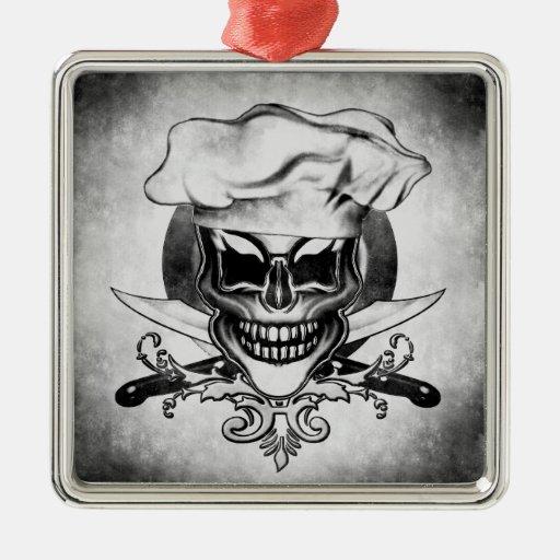 Ornamento del cráneo del cocinero del vintage ornamentos de reyes