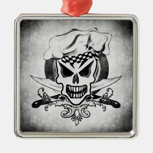 Ornamento del cráneo del cocinero del vintage adornos