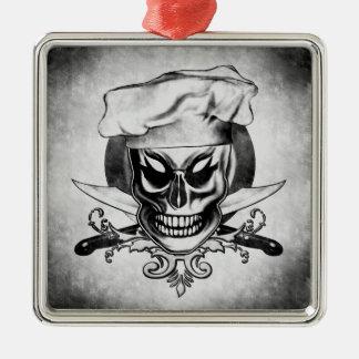 Ornamento del cráneo del cocinero del vintage ornamentos de navidad