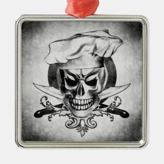 Ornamento del cráneo del cocinero del vintage ornamento de navidad