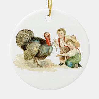 Ornamento del día de la acción de gracias adornos de navidad