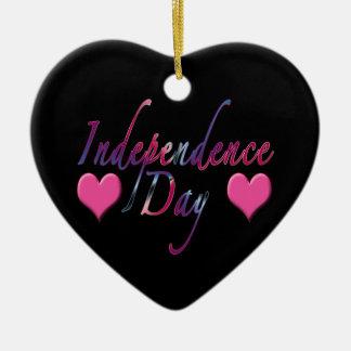 Ornamento del Día de la Independencia Adorno De Cerámica En Forma De Corazón