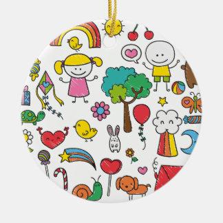 Ornamento del dibujo el   de los niños