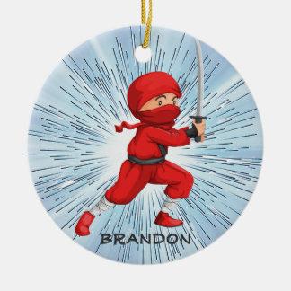 Ornamento del diseño del muchacho de Ninja