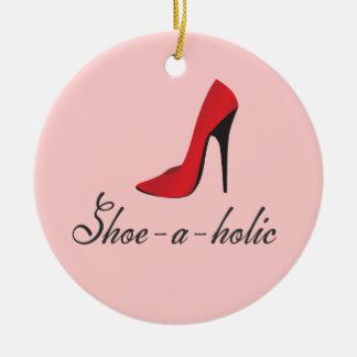 Ornamento del fashionista del Zapato-uno-holic Adorno Navideño Redondo De Cerámica
