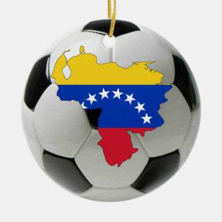 Ornamento del fútbol del fútbol de Venezuela Ornaments Para Arbol De Navidad