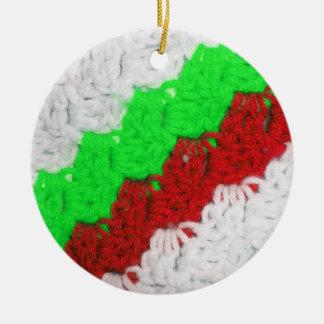 Ornamento del ganchillo adorno redondo de cerámica