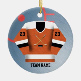 Ornamento del jersey del jugador de hockey