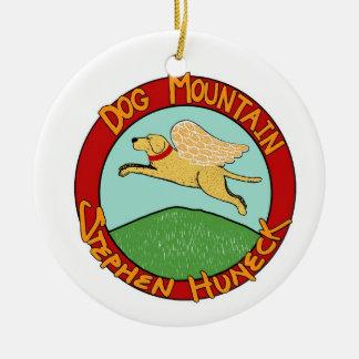 Ornamento del logotipo de Mountian del perro Adorno Navideño Redondo De Cerámica