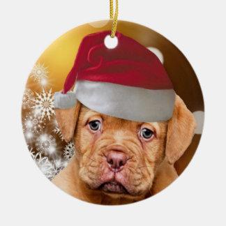 Ornamento del navidad de Dogue de Bordeaux