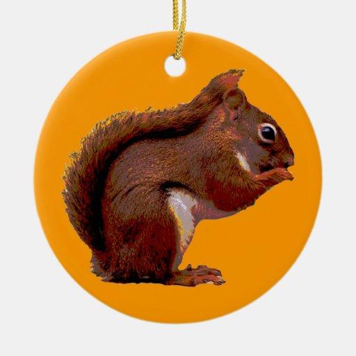 Ornamento del navidad de la ardilla roja ornamentos de reyes