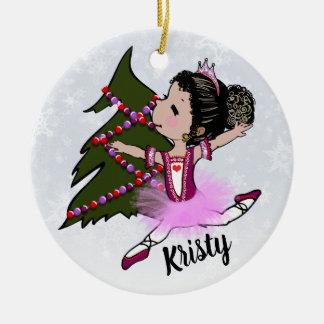Ornamento del navidad de la bailarina