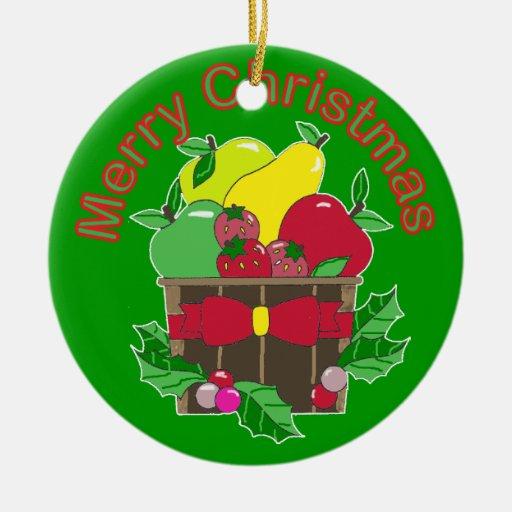 Ornamento del navidad de la cesta de fruta de las  adornos de navidad