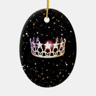 Ornamento del navidad de la corona de la plata del