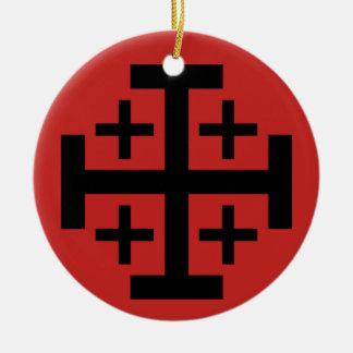 Ornamento del navidad de la cruz de Jerusalén